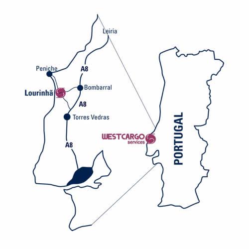 Mapa Lourinhã Westcargo